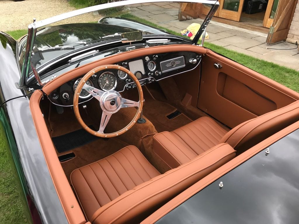 A view of the Provence Classics 1960 MGA Roadster