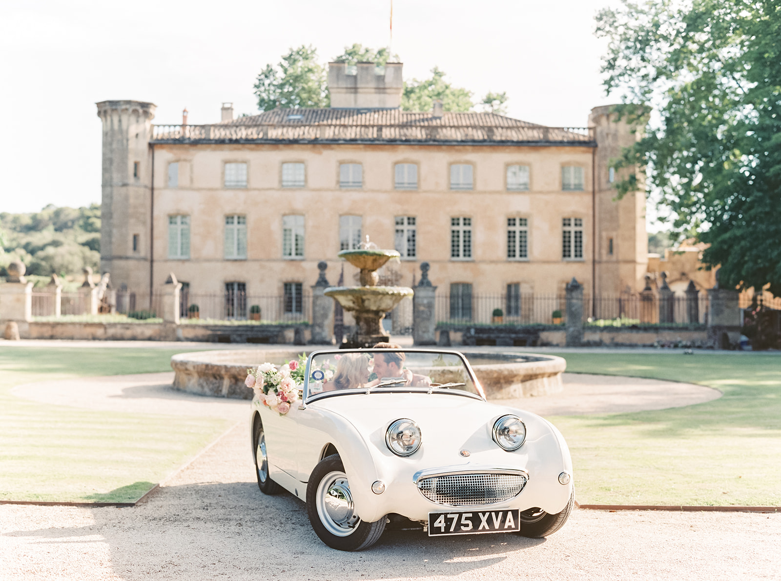 A photo of one of the cars available for weddings and events at Provence Classics, who offer Classic Car Rental in the south of France.