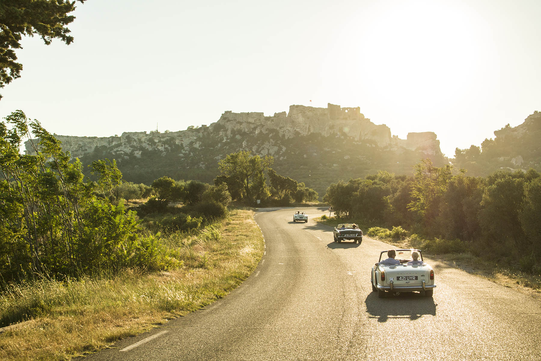 A photograph of a rally experience taken by the Provence Classics team.