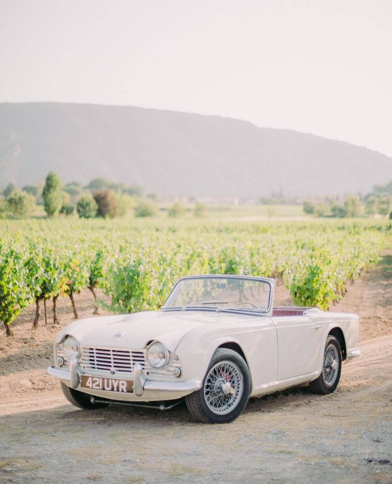 A professional photograph of the vehicles on offer at Provence Classics, for rental in the south of France.